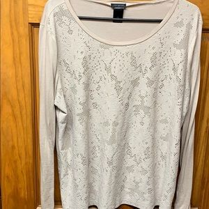 Mauve lace long sleeve top